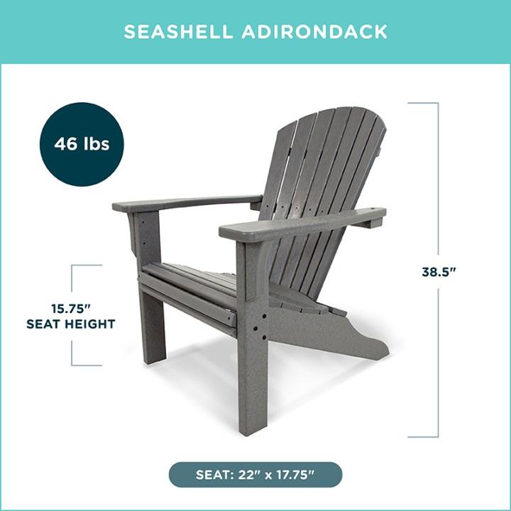 Seashell Adirondack