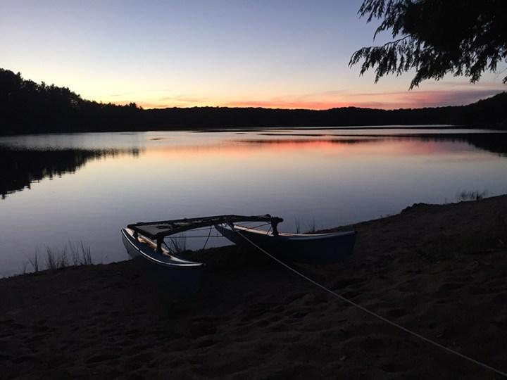 Sunset on Arbutus Lake