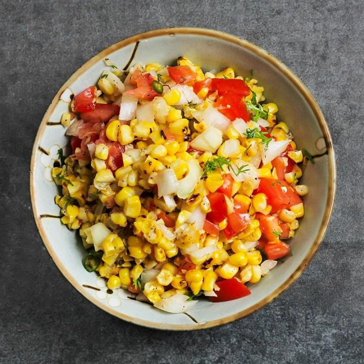 Grilled Corn Salsa