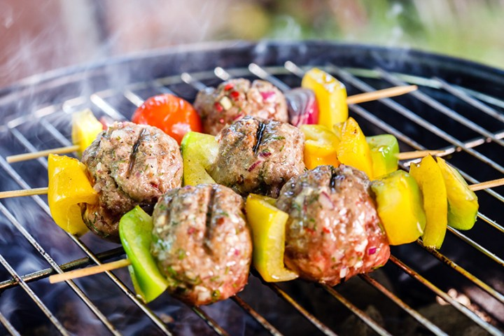Grilled Meatball Kabobs