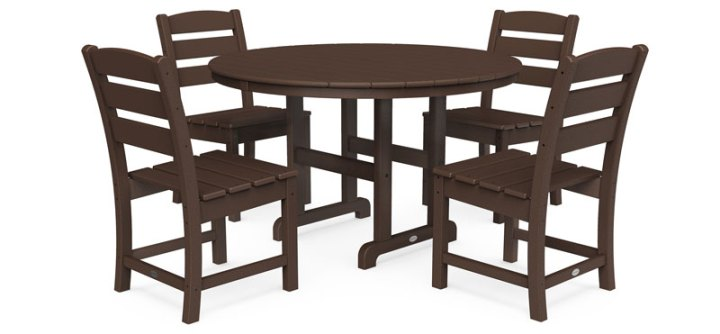 Lakeside 5-Piece Round Side Chair Dining Set