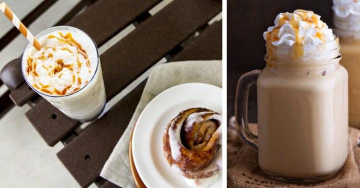 Caramel Irish Coffee fall drinks outdoors