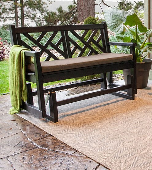 benches swings gliders polywood