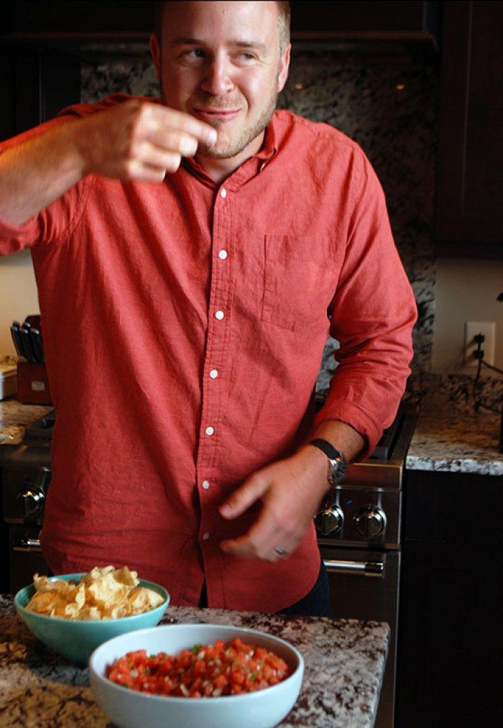 Wes-Tasting-Watermelon-Salsa-POLYWOOD-Blog