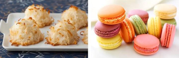 Left: Macaroon Right: Macaron