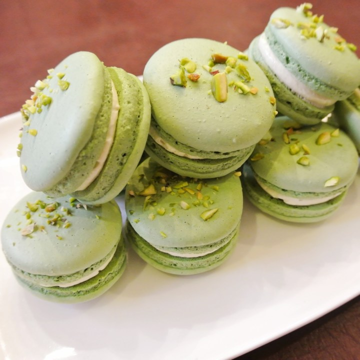 Ginger Rose had some good tips on Pistachio macarons as well.