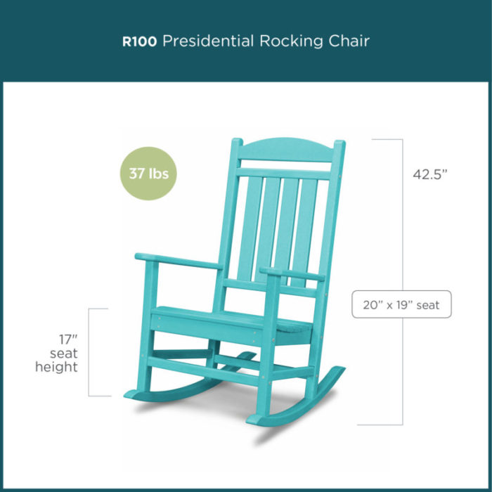 rocking chair height fishing with storage comparing styles polywood blog blue presidential