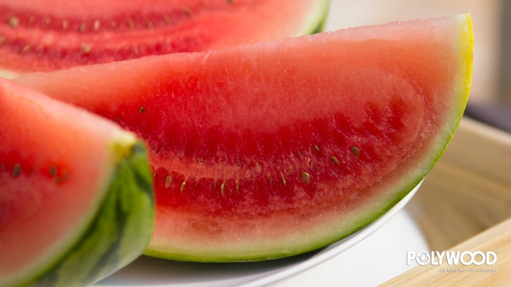 sliced watermelon close up wallpaper