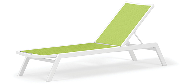 green polywood outdoor chaise lounge