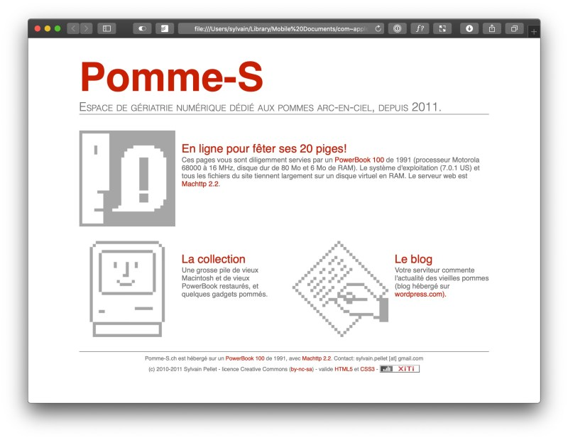 Pomme-S v1.0 (2011)