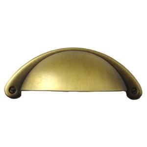 es tirador concha laton envejecido para cajon mueble viejo 64mm en shell handle antique bronze for drawer rustic furniture 64mm fr poignee