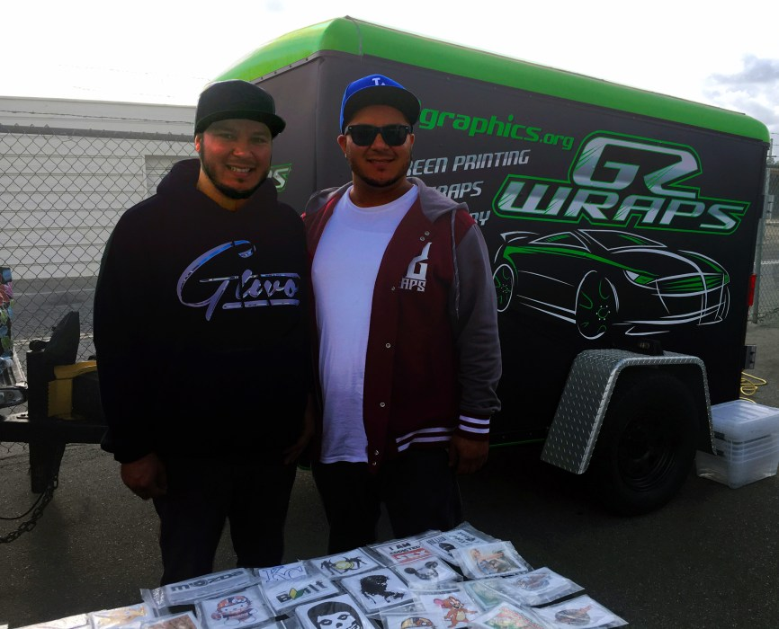 Adrian & Favian Flores, the brothers behind G2 Graphics.