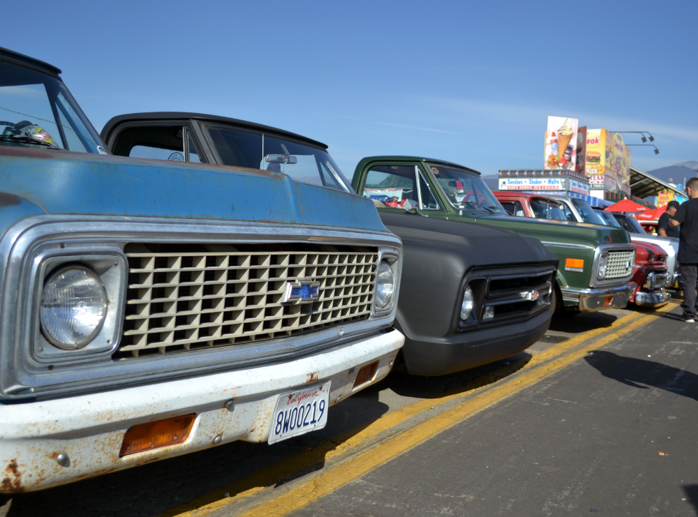 Chevy Trucks Lined Up