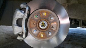 Brake Caliper of a Honda Jazz