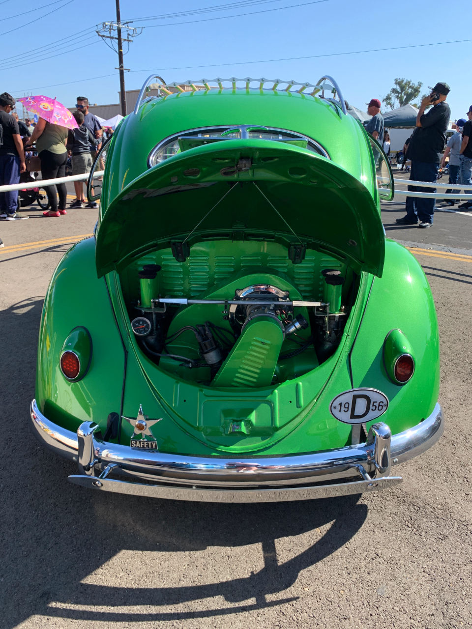 1956 VW Beetle Engine Compartment