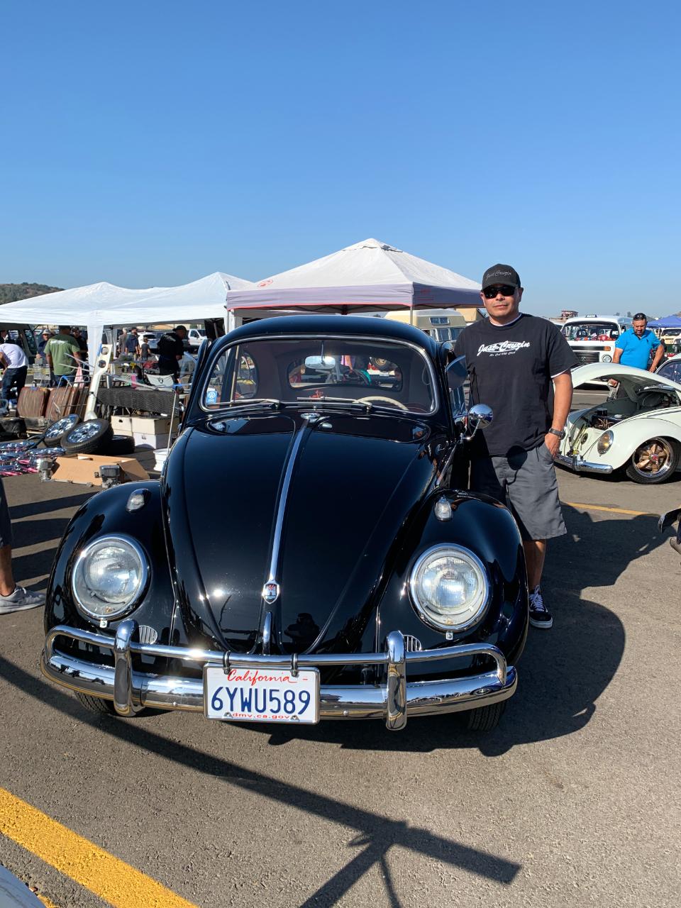Carlos Arellano with his 1960 VW Bug