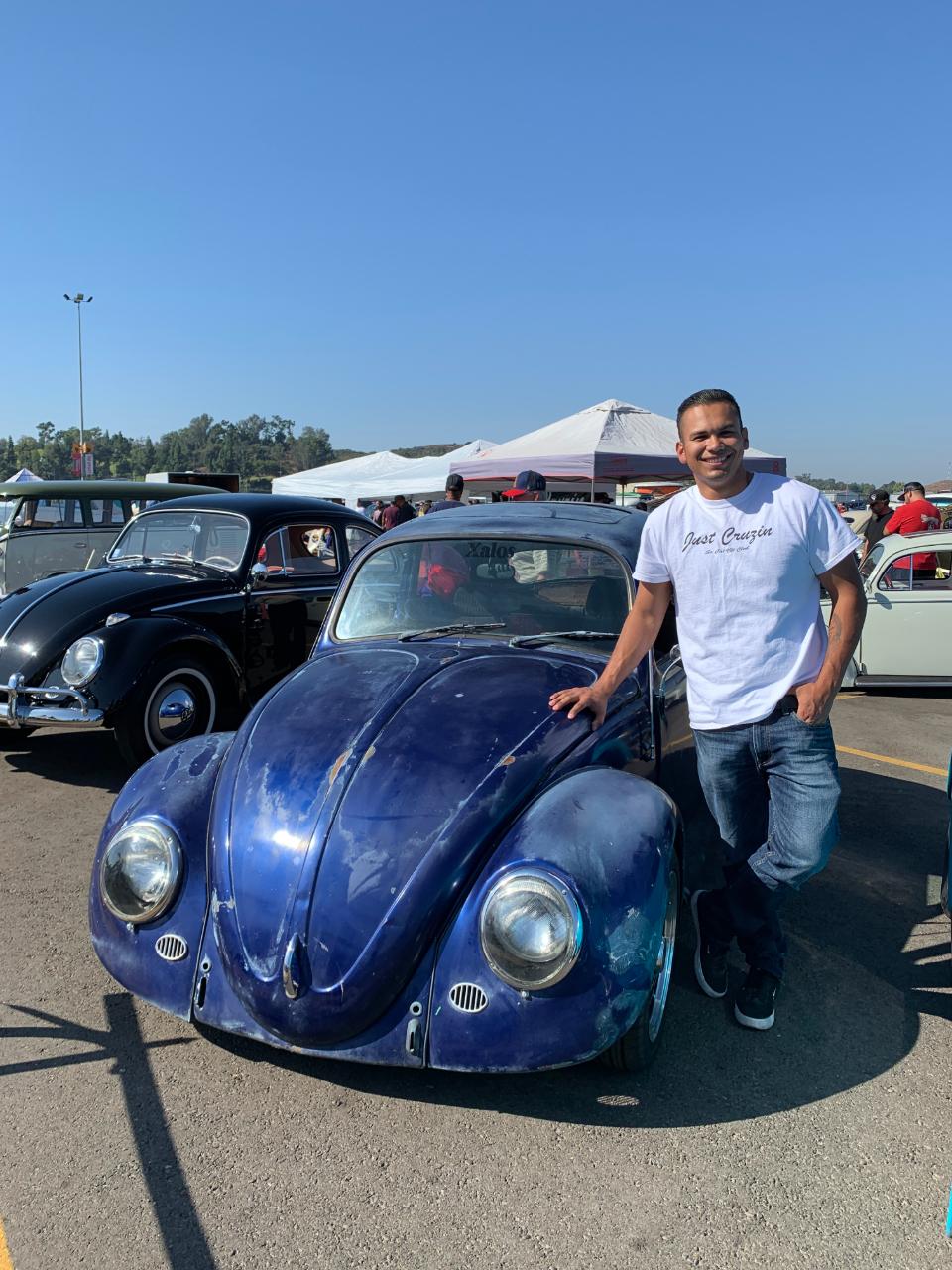 Chris Perez with his 1965 VW Bug