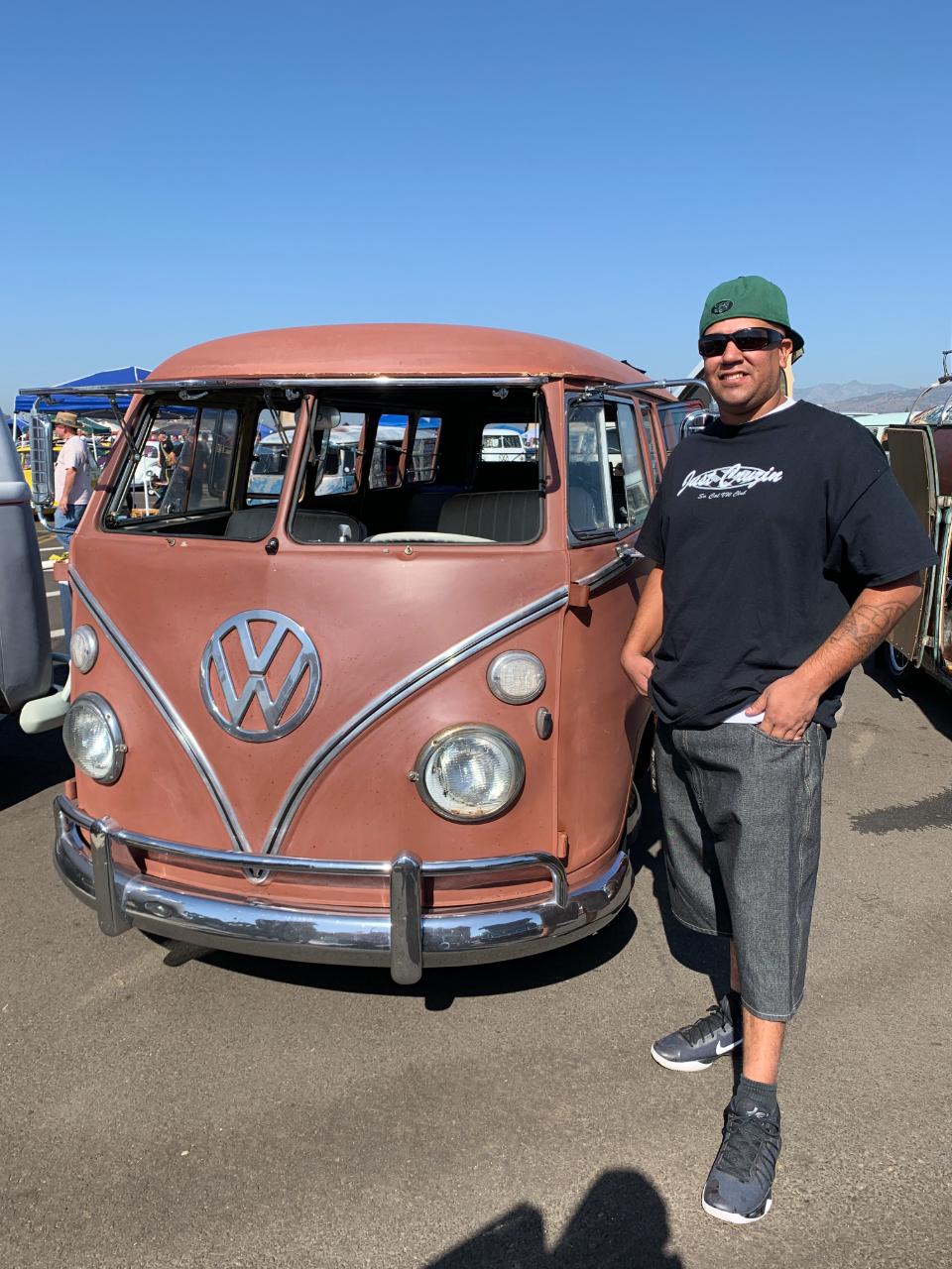 Danny Perez with his 1967 13 Window Deluxe Bus