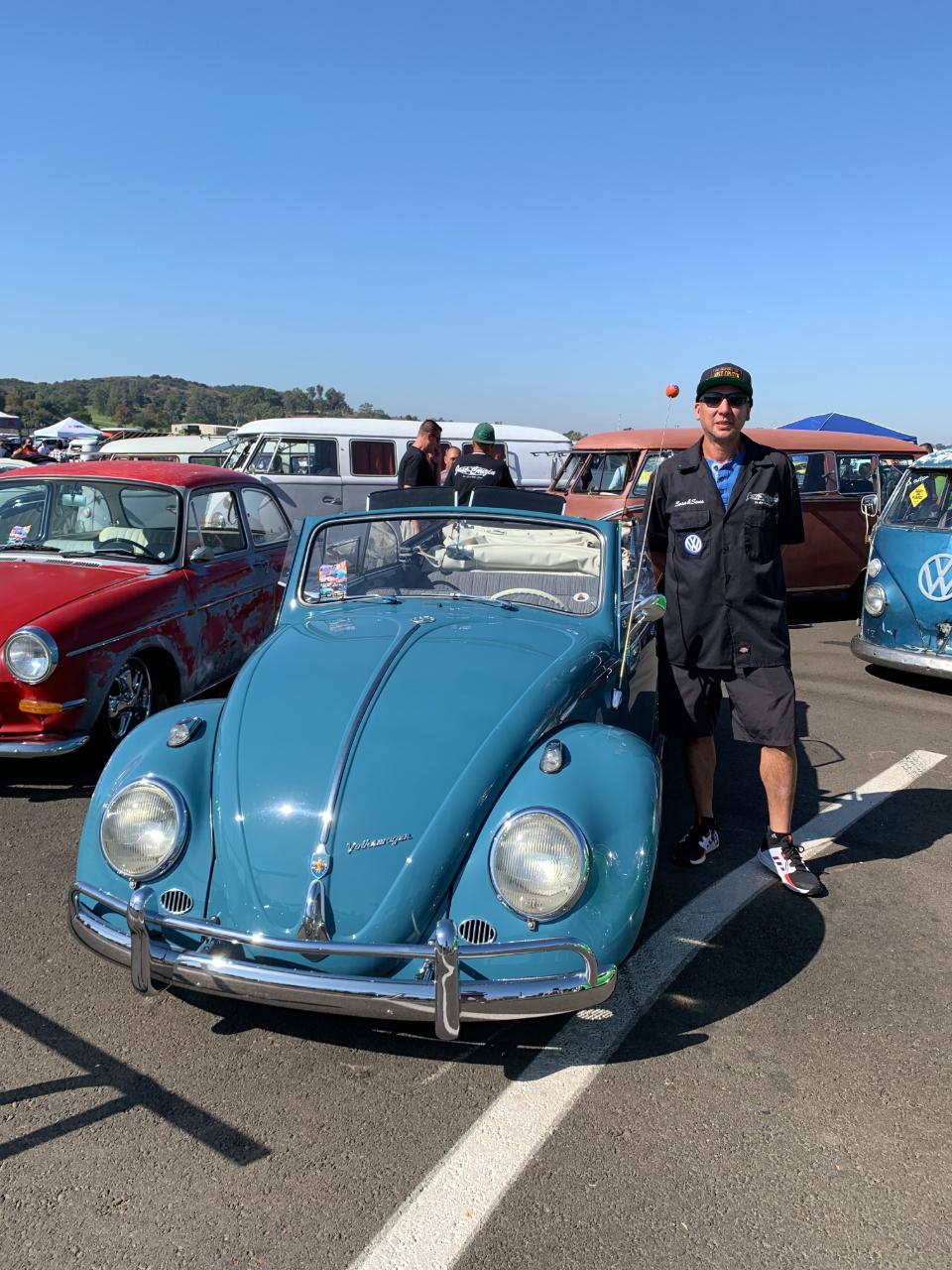 Harold Sosa with his 1962 VW Bug Convertible