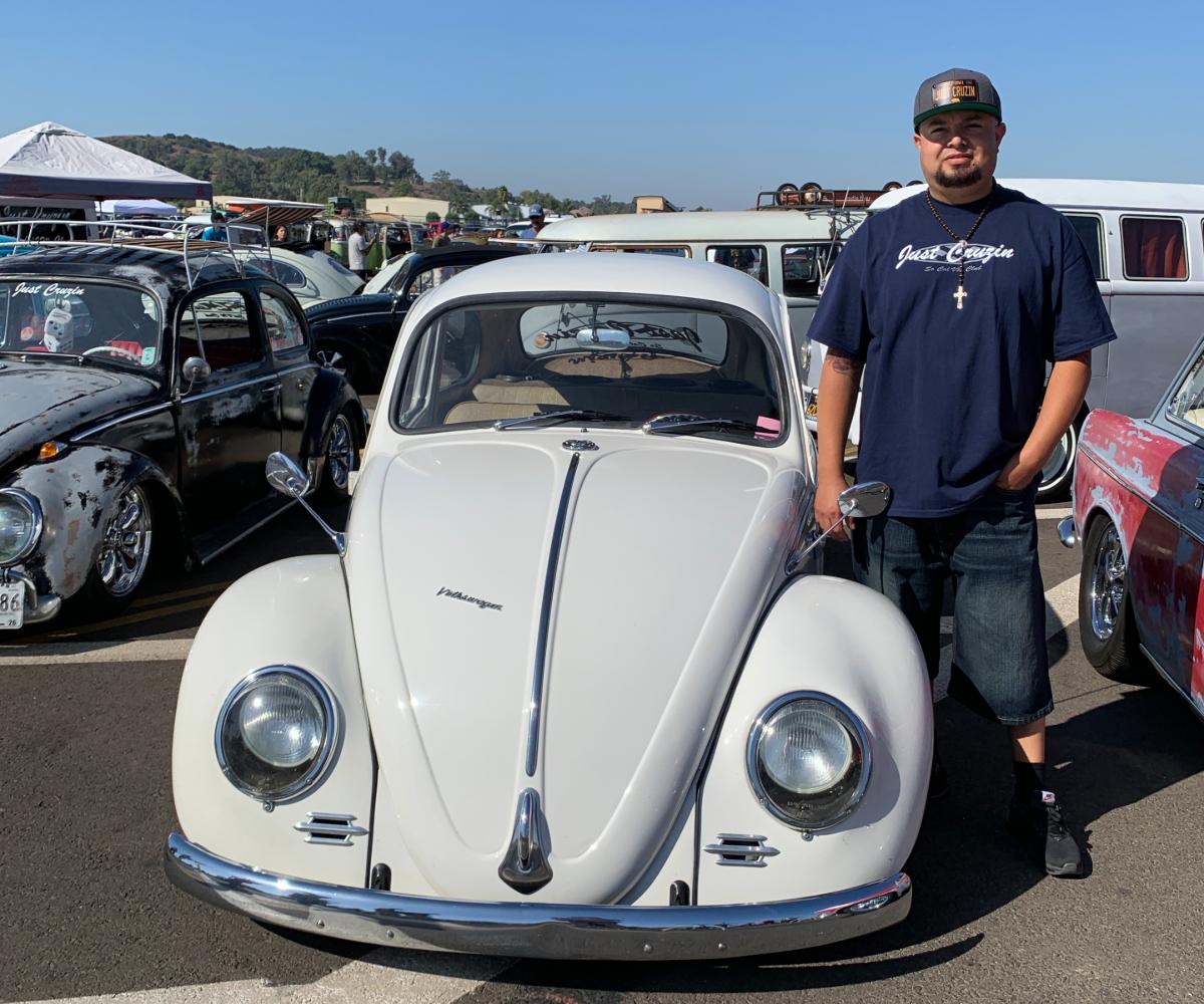 Jose Ceja with his 1965 VW Bug