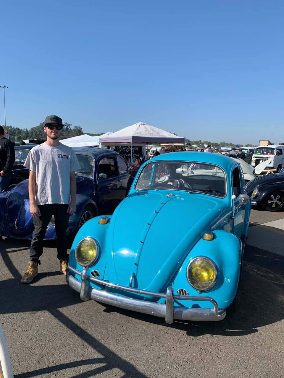 Tom Day with his 1966 VW Bug