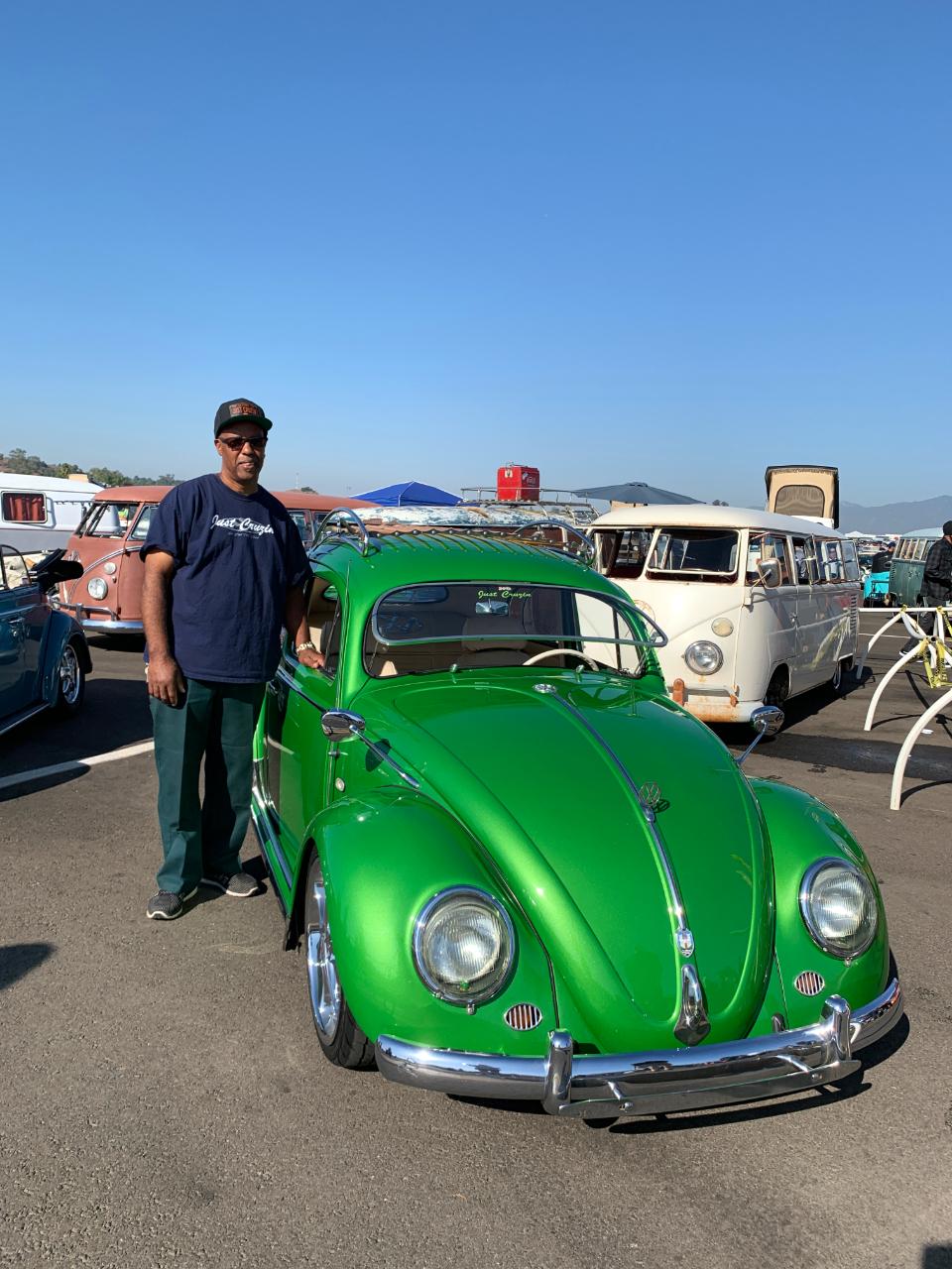 Wayne Holloway with his 1956 VW Beetle