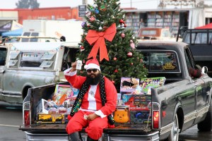 Santa Claus on a C10 Truck