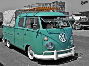 Vintage VW Bus Double Cab