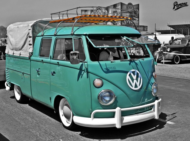 Vintage VW Bus Double Cab