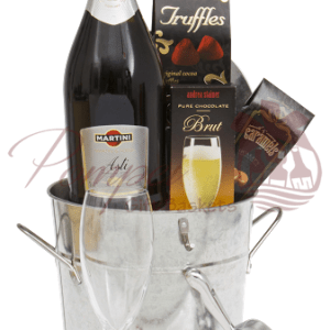 Classic Romance Sparkling Wine Gift Basket