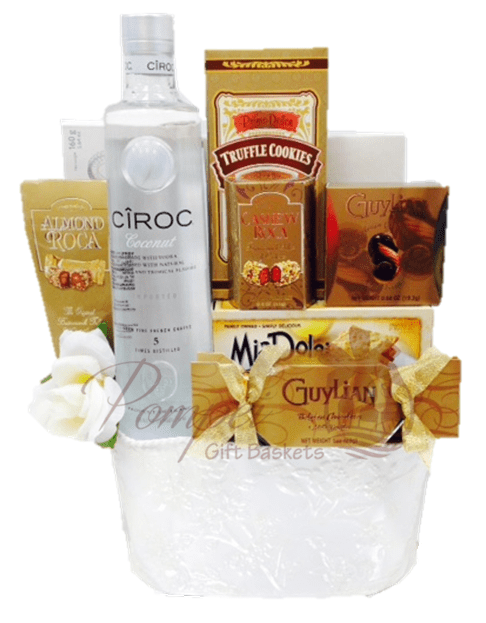 Wedding Wishes Vodka Gift Basket By Pompei Baskets