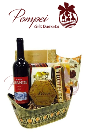 Argentina Wine Gift Basket by Pompei Baskets