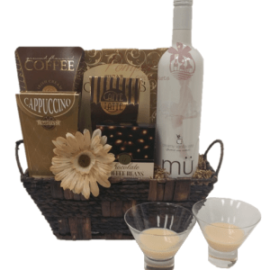Vanilla Latte Wine Gift Basket, Free Delivery Gift Basket, Free Delivery Wine Gift basket, Free Delivery Gift Basket, National Chocolate Day, mü wine, mü cocktails