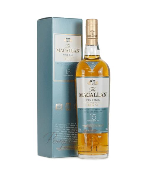 Macallan 15 Year Fine Oak Cask Single Malt Scotch Gifts NY