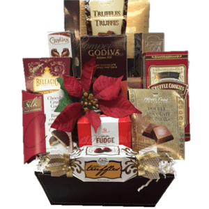 You red my mind gourmet gift basket by pompei baskets chocolate heavens gourmet gift basket negle Image collections