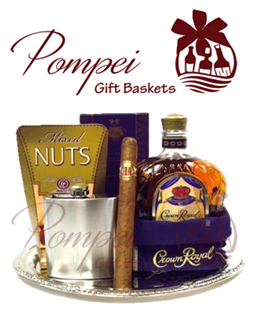 Cigar and Whiskey Gift Basket