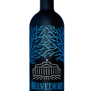 Belvedere Midnight Saber Luminous Bottle 1.75L, Black Light Up Belvedere Bottle, Black and Blue Belvedere Bottle, Light up Belvedere, Engraved Belvedere Bottle, Midnight Saber Vodka