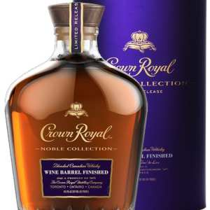 Crown Royal Noble Collection Wine Barrel Finish, Limited Edition Crown Royal, Crown Royal Wine Cask Finish, Engraved Crown Royal Bottle, crown royal noble collection, crown royal wine