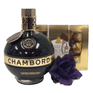 Princess Pair Liqueur Gift Set, Chambord Gift Set, Chambord Gift Basket, Blackberry Liqueur Gifts, Valentines Day Gifts, Chocolate and berry Gifts, Unique Birthday Gifts