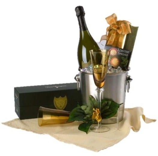 Elegant Picnic Champagne Gift Basket, Dom Perignon Gift Basket, Anniversary Gift Basket, Wedding Gift Basket, Engraved Dom Perignon, Engagement Gift Basket