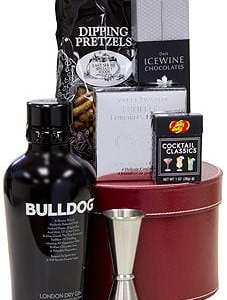 The Underbite Gin Gift Basket, bulldog gin gifts, gifts for dog lovers, gin gift basket, bulldog gift basket,