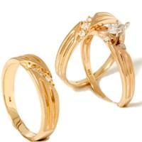 1/4ct Diamond Matching Trio Wedding Ring Set 14K Gold   eBay