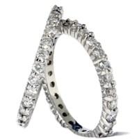 2ct Diamond Eternity Stackable Wedding Rings Set 14K White ...