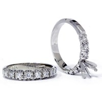 1/2ct Diamond Semi Mount Engagement Wedding Ring Set | eBay