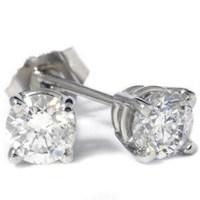 1/2ct Diamond Studs Earrings Platinum   eBay