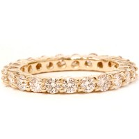 2 ct Diamond Eternity Ring Womens Wedding Band 14K Yellow Gold