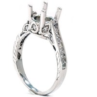 1/3ct Vintage 14K White Gold Diamond Engagement Ring ...