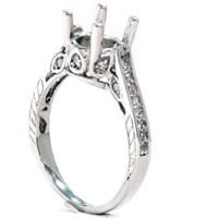 1/3ct Vintage 14K White Gold Diamond Engagement Ring ...