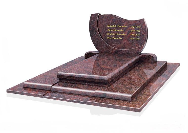 monument funéraire avec gravure