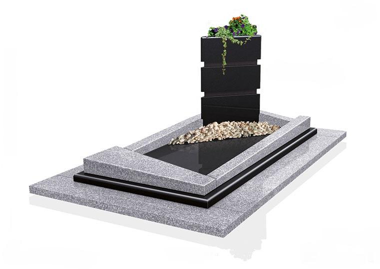 monument funéraire contemporain et zen